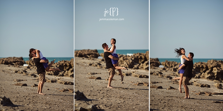Jupiter Beach Engagement Photos