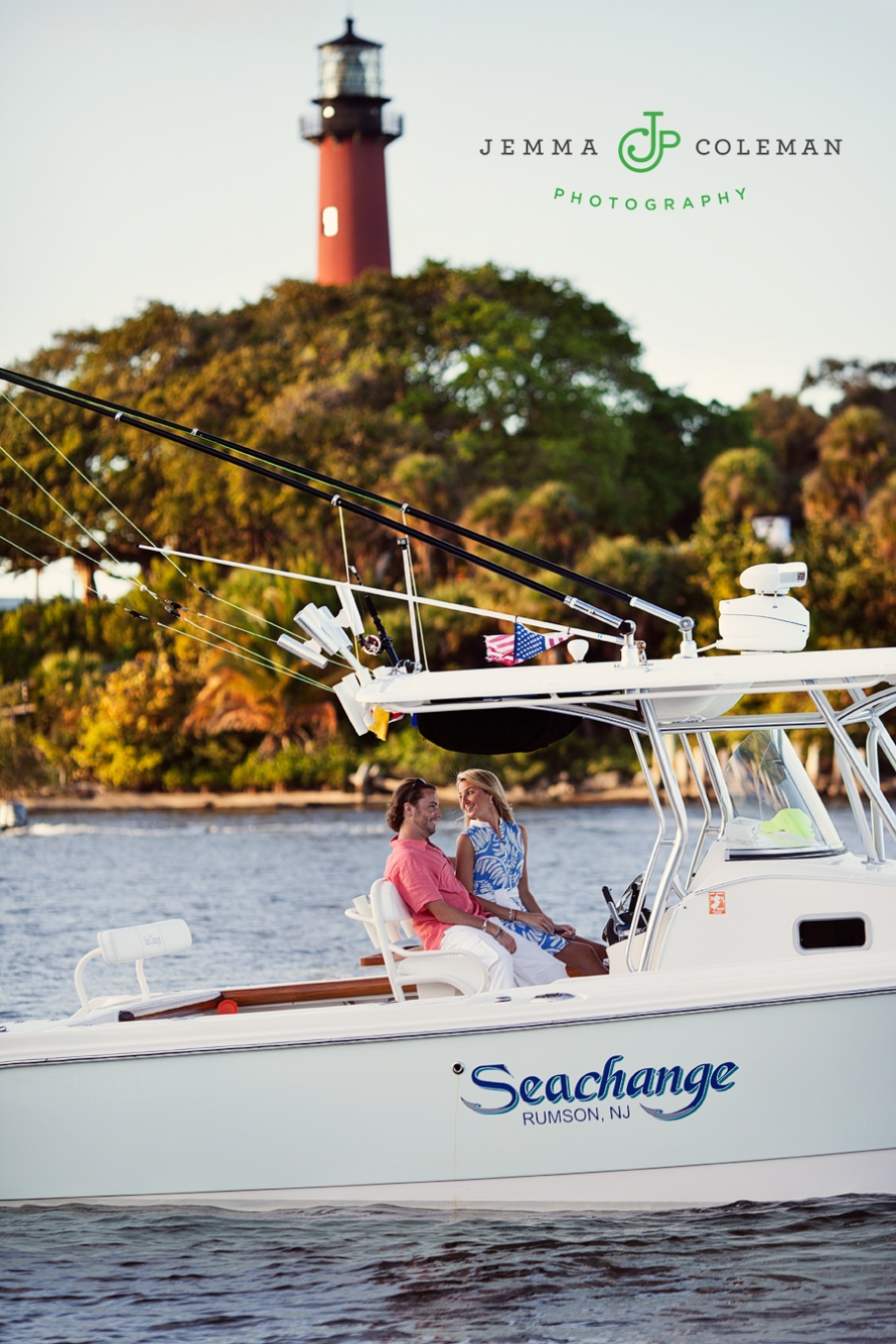 Engagement Photos Jupiter Florida Boating